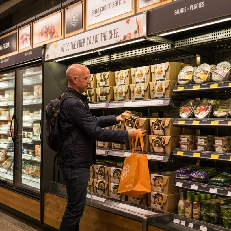 shopping in Amazon Go store
